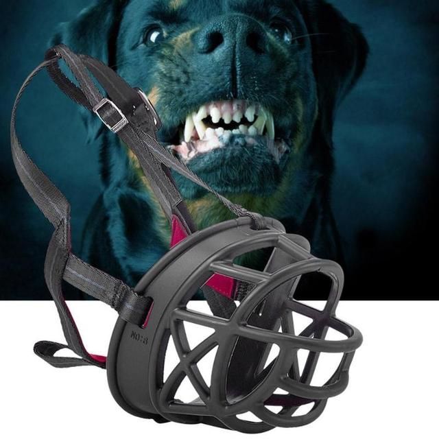 Pet Muso di Plastica Anti Bark Bite Bocca Cinghie Bocca Training Mask Museruola
