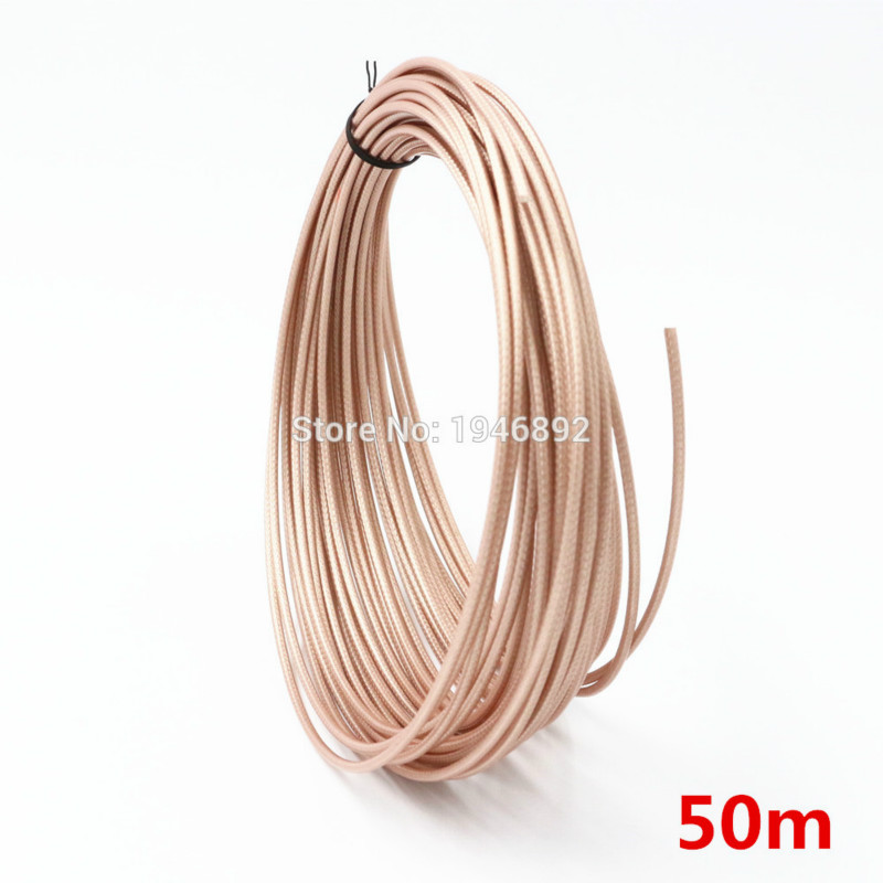 50 meters lot 164ft RG316 Brown Coaxial Cable Wires RF 50 Ohm Shielded Cable wire DIY