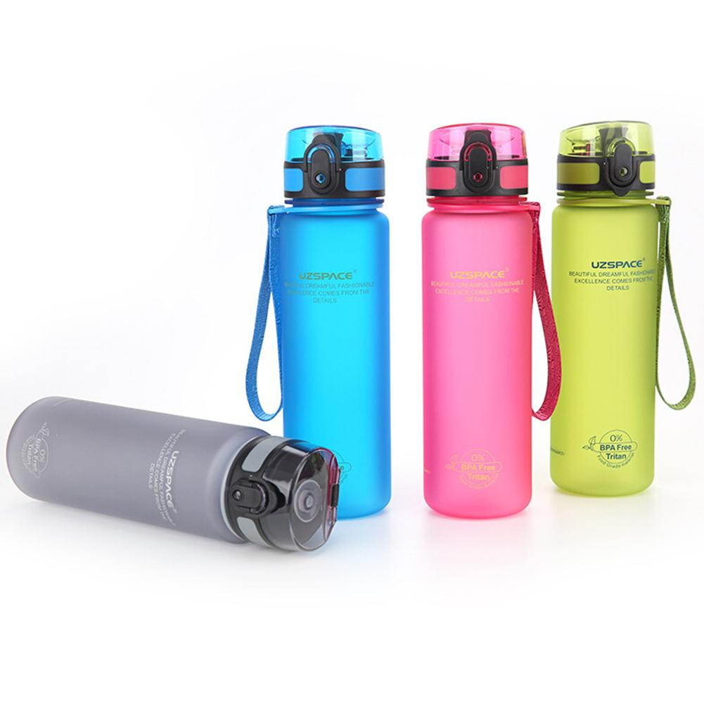 New 350ml 500ml 650ml 1000ml Uzspace Sport Water Bottle Camp Hiking Plastic Kettle-in Water Bottles from Home & Garden on AliExpress