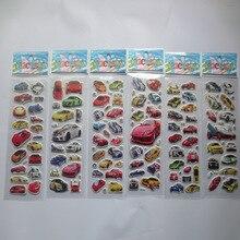 6 листов/набор мультфильм автомобиля наклейку 3D пузырь наклейки скрапбукинг для детей Домашнего декора Дневник Ноутбук Этикетки Украшения игрушки