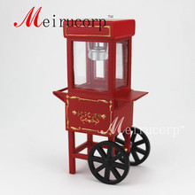 Fine 1:12 scale dollhouse miniature Crafts Gorgeous red Popcorn cart 1 12 scale fine dollhouse miniature furniture white cabinet