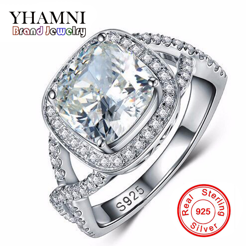 Big Promotion 100% 925 Sterling Silver Jewelry Wedding Rings For Women Sona CZ Diamant Engagement Ring RING SIZE 5 6 7 8 9 R2903 big promotion 100% original 925 silver wedding rings for women natural solitaire 6mm cz diamant engagement rings jewelry rj003