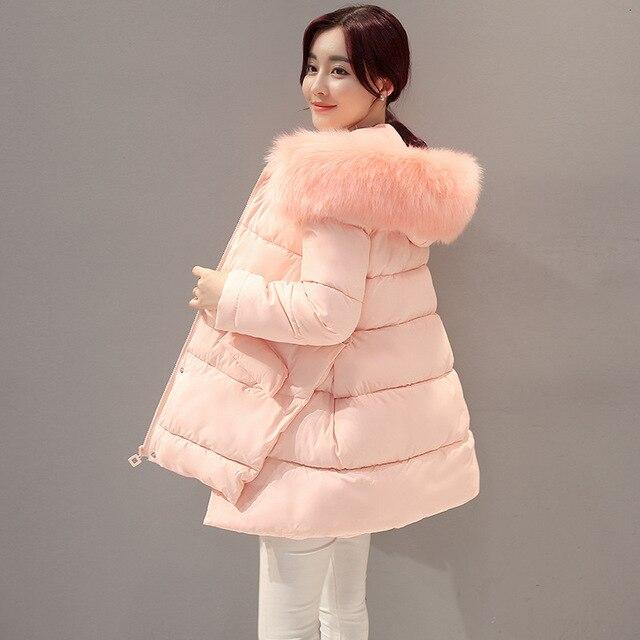 Для беременных зимнее пальто длинные свободные с капюшоном модный утепленный пуховик для беременных Для женщин пальто для беременных верхняя одежда с меховым воротником Куртка