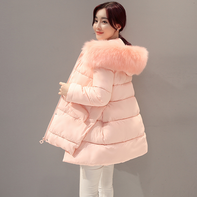 Maternity Winter Coat Long Loose Hooded Fashion Thicken Down Coat For Pregnant Women Pregnancy Coats Fur Collar Outerwear Jacket