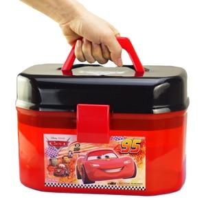 Image 4 - Disney Pixar Autos Spielzeug Auto Modell Parkplatz Tragbare McQueen Lagerung Box (Keine Autos) für Jungen Kinder Geburtstag Geschenk