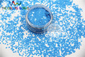 TCH309  2.0 MM Size Solvent Resistant  Mate Light Blue Colors Diamond  rhombus shape glitter for nail art and other deco