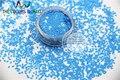 TCH309 2.0 MM Tamaño Mate Azul Claro Colores Diamond forma rombo brillo Resistente A los Disolventes para el arte de uñas y otros deco