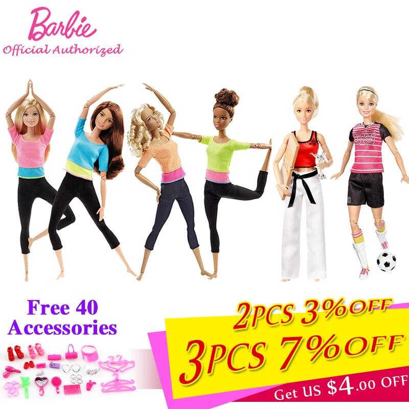 Bonecas Barbie Autorizar Marca Moda Estilo 7 Yoga Modelo Modelo de Brinquedo Para A Menina Presente de Aniversário Boneca Barbie Girl DHL81