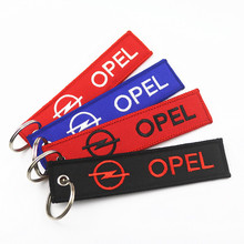 Car Key Ring embroidery Emblem Badge Car Keychain For OPEL Corsa Insignia Astra Antara Meriva Car Styling Accessories