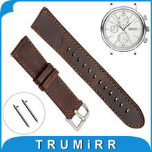 20mm 22mm Real Leather-based Watch Band Fast Launch Strap + Spring Bar for IWC Watch Band Alternative Belt Males Girls Bracelet