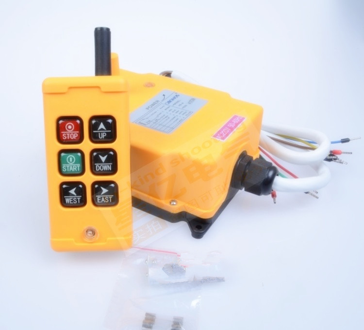 24VDC HS-6 6 Channels Control Hoist Crane Radio Remote Control Industrial Remote Control Hoist Crane switch switc цена