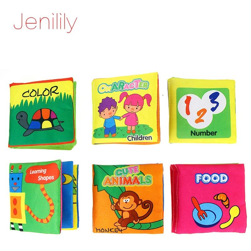 US Baby Educational Intelligence Development Infant Soft Animal Cloth Book Toy #