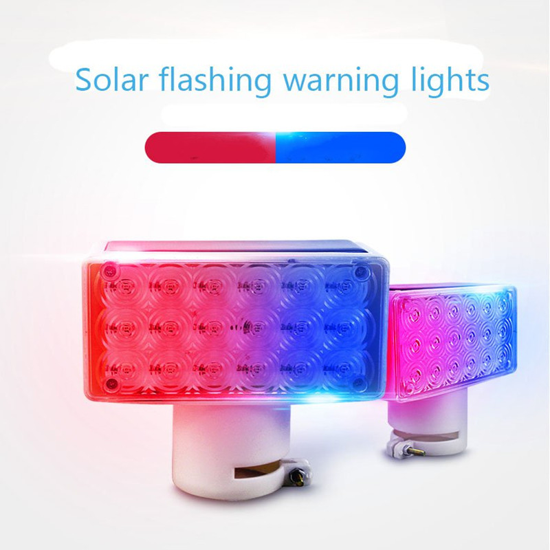 Solaris LED Solar Panel Strobe Warning Lights Square Wall Street Path Lamp Waterproof Indication Road Traffic Emergency Lighting