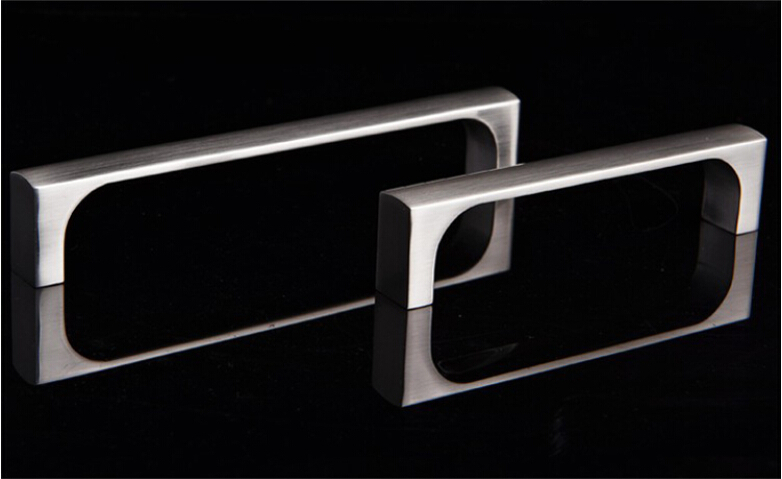 Furniture Shoe Cabinet Knob And Kitchen Cupboard Drawer Handle Satin Nickel C C 160MM L 167MM