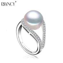 Natural Pearl Rings for Women weddiing rings adjustable rings,real pearl ring silver 925 jewelry girl Birthday Gift