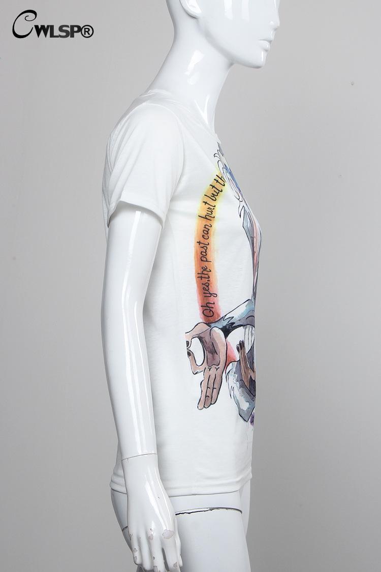 HTB1poT5KXXXXXckXVXXq6xXFXXXL - Summer Colorful Printed T shirt Women Fashion Letter Short Sleeve