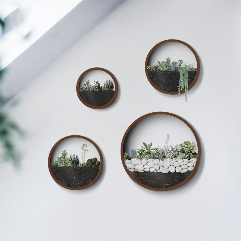 Creative Wall Hanging Metal Iron Round Vase for Home ... on Iron Wall Vases id=52238