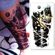 M-theory Robot Arm Body Makeup Temporary 3d Tattoos Sticker Henna Flash Tatoos Tatuagem Body Arts Tatouage Tatto Stickers