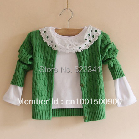 kids cardigan knitted sweater spring autumn girls 100% cotton  children baby girl sweaters kid sweaters