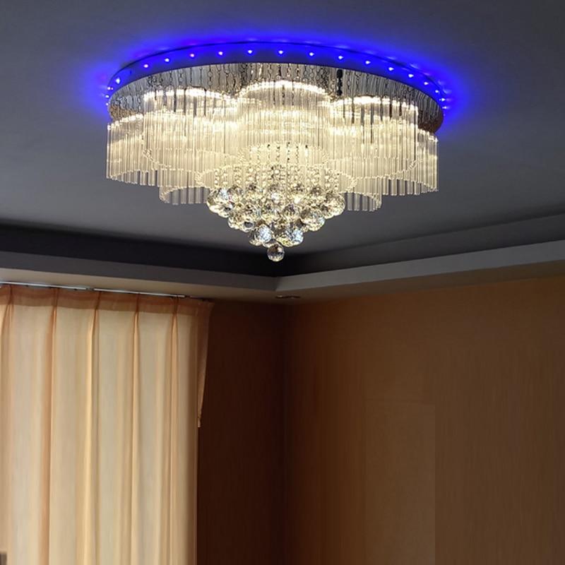new design RGB LED crystal lamp modern chandelier AC110V 220V lustre living room bedroom lights led crystal chandeliers lamp round ring hanging lights modern led crystal chandelier fixture for living room lobby ac110v 240v