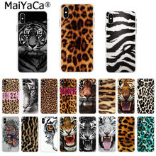 Maiyaca Indah Ponsel Case Fashion Tiger Macan Tutul Cetak Panther untuk iPhone 11 Pro 8 7 66S Plus X 5S se 44S XS XR X Max(China)