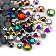 Mixed size Mix color 10g bag 3D Iron On Rhinestones Hot fix Crystal  Rhinestone DIY 6f895811bdc1