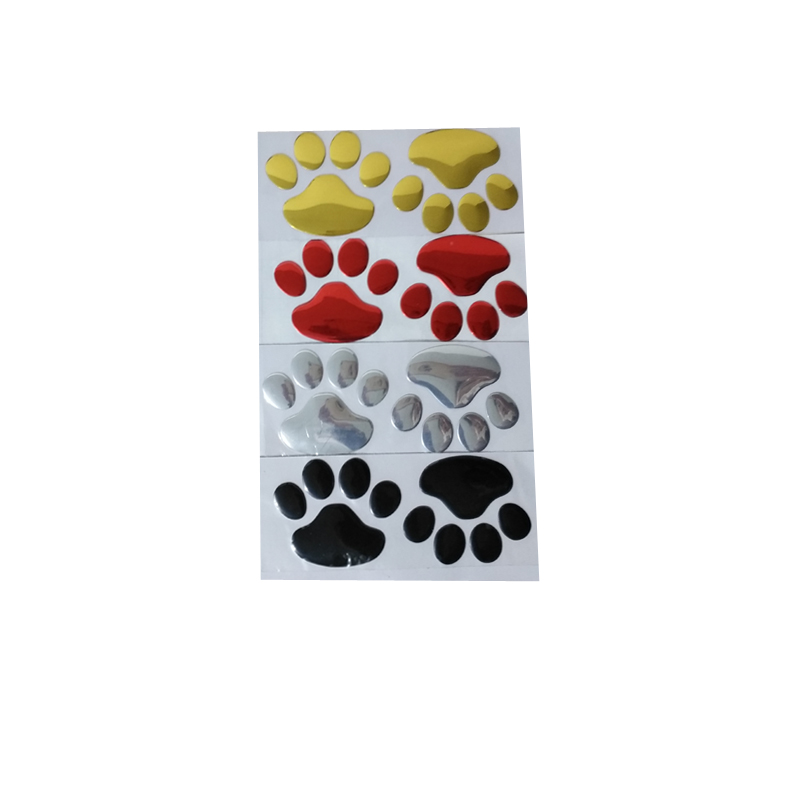 (10 pairs/lot ) Wholesale 3D Funny Bear Paw Footprint Funny Sticker For Car Truck Auto Paster Decal Art Car Styling
