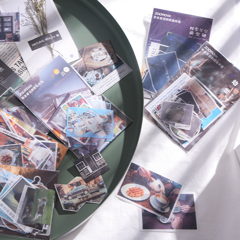 Купить с кэшбэком Travel Series Washi Paper Sticker Bag Journal Album Item Decoration Sealing Sticker DIY