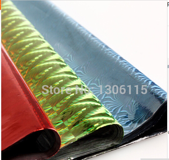 10sheets/lot 50*70cm holographic laser paper gift wrapping paper ...
