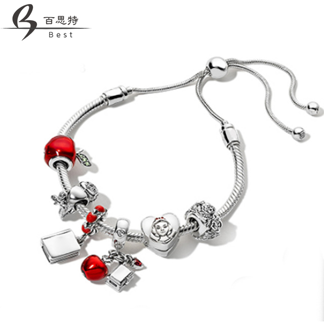 BEST 100% 925 Sterling Silver Christmas Fairy Tales Charm Apple Bird Book Bracelet Set Original Jewelry Gift AdjustableBEST 100% 925 Sterling Silver Christmas Fairy Tales Charm Apple Bird Book Bracelet Set Original Jewelry Gift Adjustable
