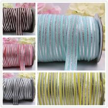 1659-17 , 5/8'' 16MM hot Silver print stripe Elasticity ribbon , 10 yards DIY handmade hair accessories Material , free shipping