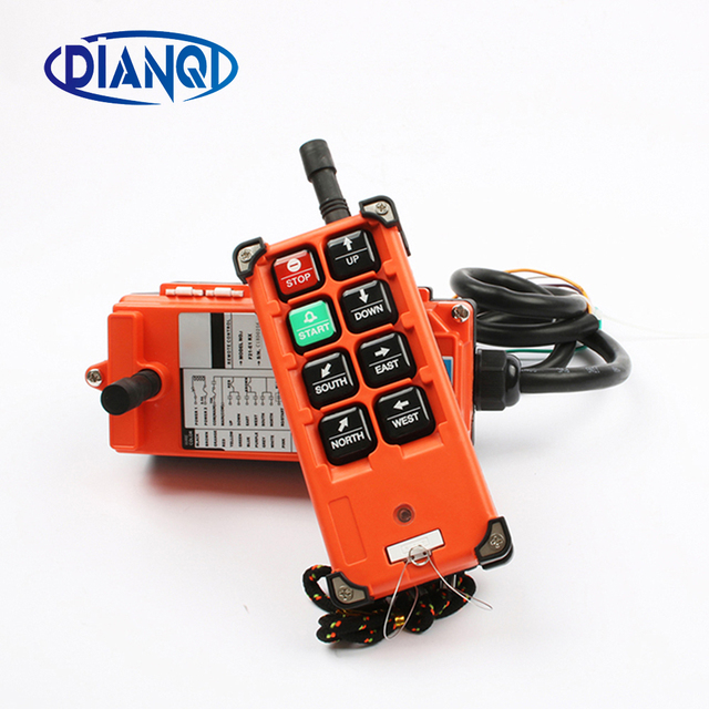 Wireless industrial universal remote control switches distance for overhead crane switch 6 Channel  F21 E1B Blue Orange