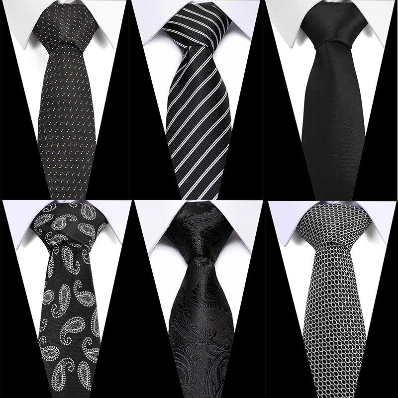 Men Ties Necktie Men's Vestidos Business Wedding Tie Male Dress Gift Gravata Black Paisley Tie Men JACQUARD WOVEN 7.5cm