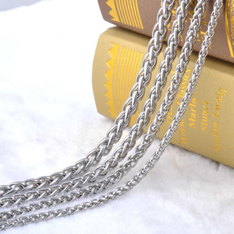 Nigdy nie znikną ze stali nierdzewnej mężczyzn naszyjnik łańcuch 3 4 5 6 7 8MM wysokiej jakości Link Chain naszyjniki hurtowych