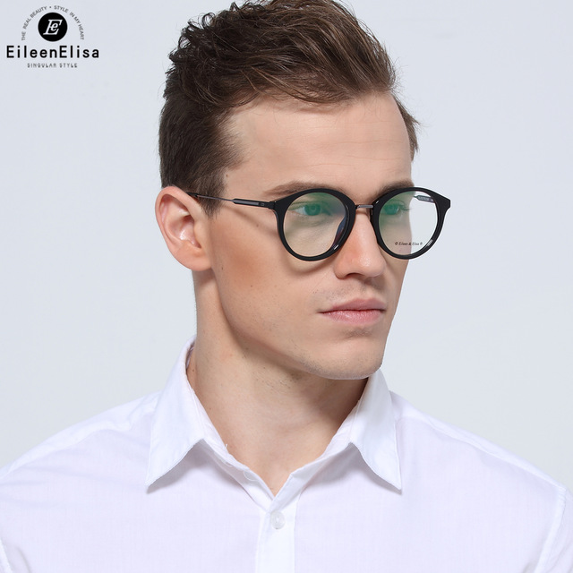 Ee 2017 High Quality Acetate Men Brand Optical Frame Round
