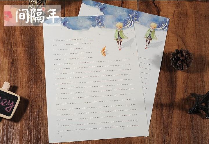 inpaper винтаж письмо бумага ретро канцелярские