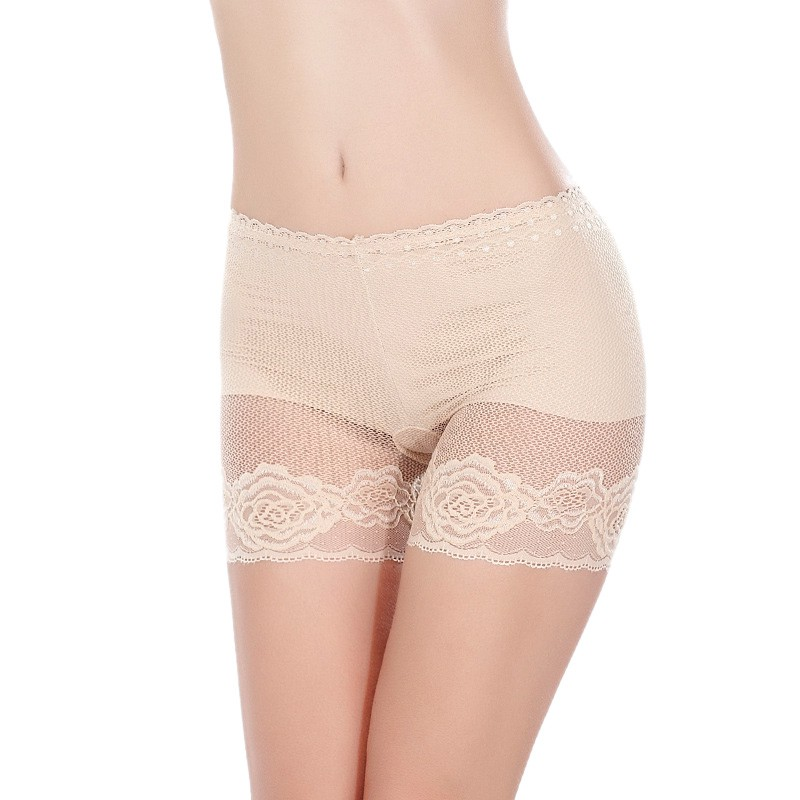 Sexy Lace Briefs For Women Lingerie Ultra -thin Transparent safety Short Pants Comfortable Anti-light Underwears Solid Briefs