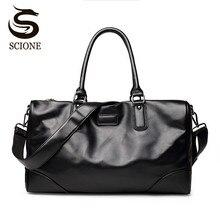 Scione Männer Mode Pu-leder Handtaschen Reisetaschen Große Kapazität Totes Umhängetasche herren Business Messenger Crossbody Taschen
