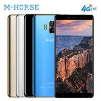 M-HORSE puro 1 4G 18:9 smartphone 5.7 pulgadas de pantalla Android 7.0 Quad Core 3 GB + 32 GB 4380 mAh 4 cámaras teléfono móvil