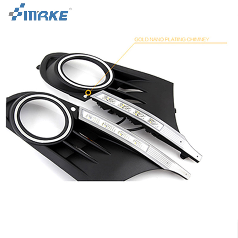smRKE 2pcs For Volkswagen Golf 6 2010-2014 High quality Car styling New LED DRL Car-special LED Daytime Running Light 2014 5d car fioor mats one step making newest special for volksiwagen golf 7