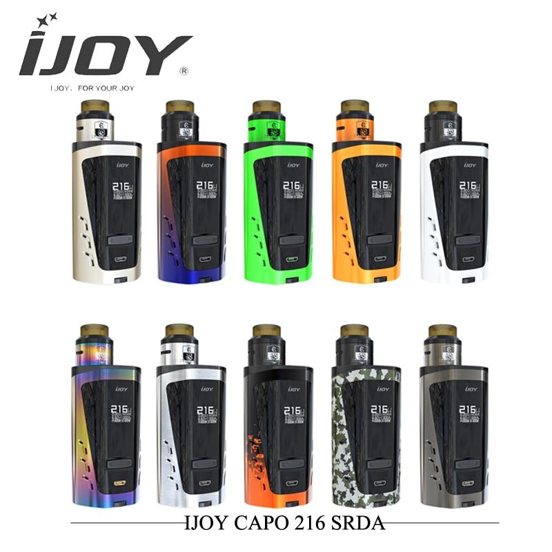 Nouvelle grande capacité IJOY CAPO 216 SRDA Kit 216 w Squonk boîte Mod Kit 0.13ohm Comba Srda réservoir 2 pièces 20700 batterie vaporisateur Vape