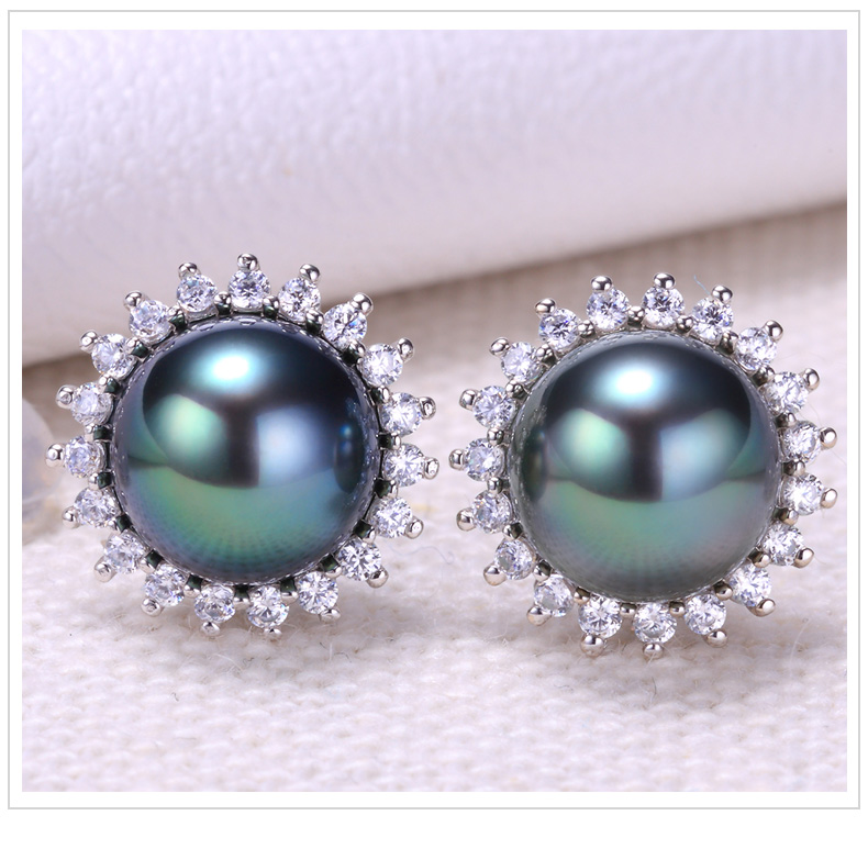 tahitian pearl earrings 102