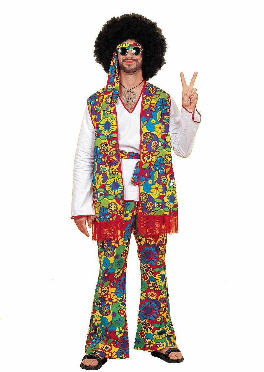 Free shipping Mens/womens Groovy Hippy Flares + Top Outfit 60s-70s Fancy Dress Hippie Adult Halloween Costume short dresses office wear