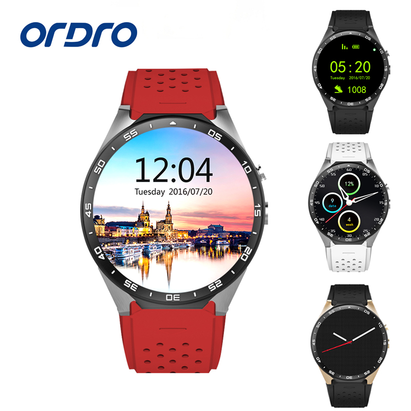 Original KW88 Android 5.1 GPS Smart Watch With SIM Card 3G Heart Rate Monitor Camera Fitness Cell Phone Bluetooth Smart Watch smart baby watch q60s детские часы с gps голубые