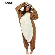 6c31e1519f HKSNG Adult Animal Brown Sloth Kigurumi Onesies Pajamas Cartoon Soft Fleece  Onesies Cosplay Costumes Jumpsuits Best Gift