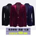 BW2015 marca chaqueta de terciopelo de oro de los hombres boutique de maestro de ceremonias de pana vestido de moda de alta calidad de ocio blazer