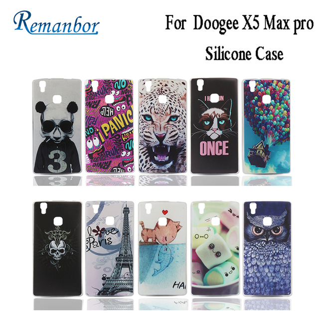remanbor for doogee x5 max pro silicone case with colorful drawings