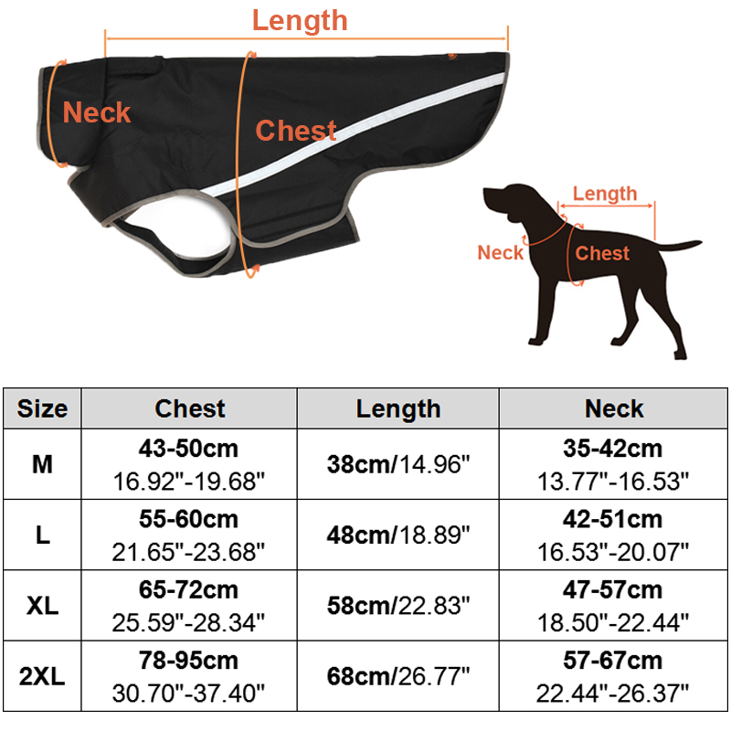 Pet Products Waterproof Outdoor Pet Dog Coat Jackets Reflective Breathable Medium Large Dogs Clothes Sportswear For Golden-retriever/labrador