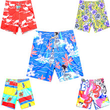 Promotion 5 Pieces/Set Summer 2018 Brand BREVILE PULLQUIN Board Shorts Men Turtle Elk Mermaid Flower Male Beach shorts Quick Dry
