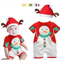 Xmas Baby Girl Clothes Snowman Tutu Romper Body suit/Jumpersuit Christmas Birthday Costumes Vestidos
